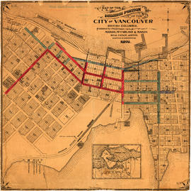 Map of the business portion of the City of Vancouver, British Columbia [early street paving]