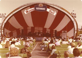 Rothman's Music Hall - outdoor stage with performers and audience