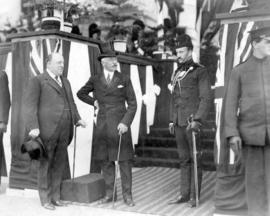 [The Duke of Connaught and E.R. Ricketts at reception in front of Court House]