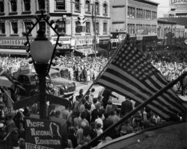 Crowd at P.N.E. Opening Day Parade