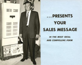 Presents your sales message : in the most ideal and compelling form : [man standing with Armstron...