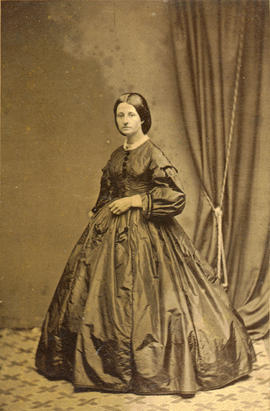 [Full length studio portrait of] Mrs. William (Smith) Cruise