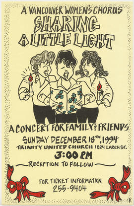 A Vancouver Women's Chorus : sharing a little light : a concert for family and friends : Sun...