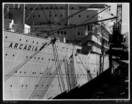 Port of call [side view of the Arcadia]