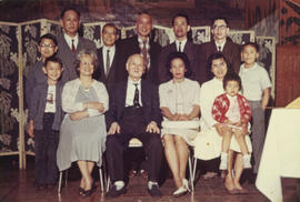Foon and Lillian Wong, Sam Ho, Paul and Vernon Yee, and others, possibly Ho family members