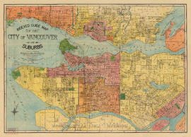 Indexed guide map of the city of Vancouver and suburbs