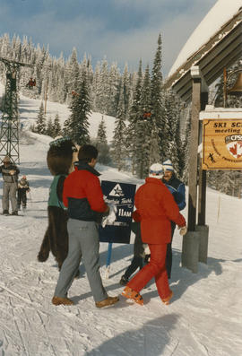 Tillicum, Mike Harcourt and others on ski hill