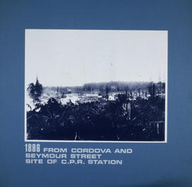 From Cordova and Seymour Street, site of C.P.R. Station
