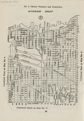 Sectional map and street directory of Vancouver, British Columbia : [Nanaimo Street to Alexander ...