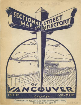 Sectional map and street directory of Vancouver, British Columbia : cover page
