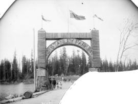 [Stanley Park arch and bridge]