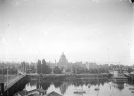 [British Columbia legislative buildings, with harbour in the foreground]