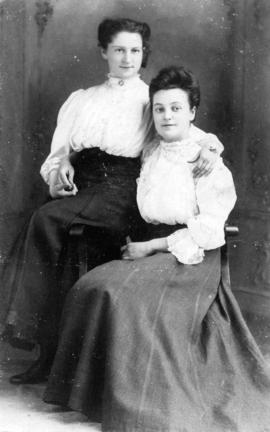 Mabelle McGarity (Mrs. Glen) and Lucy Kinsella (Mrs. Gaudet)