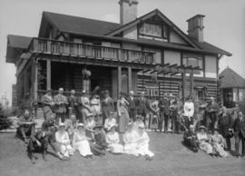 [Wedding party at house of C. Gardner Johnson, 1312 West 57th - group photo]