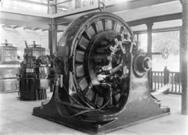 [Machinery inside B.C. Electric Railway Company Limited power building]