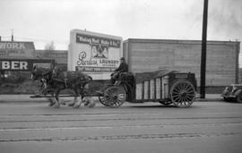 [Vancouver Breweries horse drawn delivery wagon]