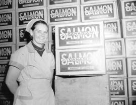 Mrs. O. Larson [at Nelson Brothers Salmon] Cannery
