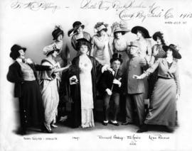 "[Signed photo by cast of ""Court by Girls"" presented to Mr. Jim Pilling, Manager of the ..."