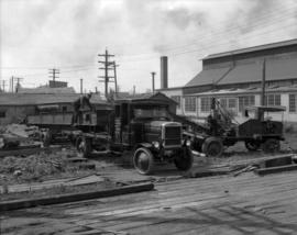 Anglo Canadian Warehouse Company Trucks (opposite Coquitlam Shipyards)