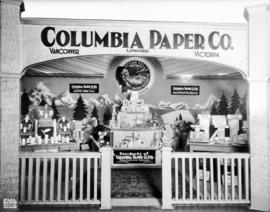 Columbia Paper Co. display of paper products