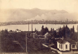Vancouver, B.C. from Mt. Pleasant (Panorama view) [from Scotia Street and Sixth Avenue]