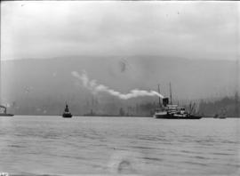 "[Coastal steamship] ""Prince George"" aground at 1st Narrows"