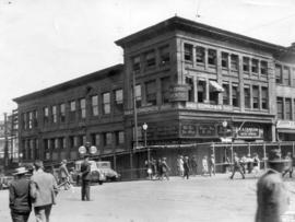 [The demolition of the Hadden Block - N.E. corner of Granville and Hastings Streets]