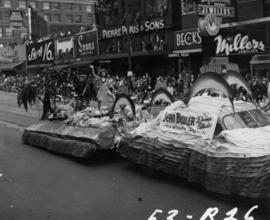 Jean Bowler Dance Studios float in 1953 P.N.E. Opening Day Parade