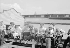 Canadian Pacific Exhibition [children on fence-side]