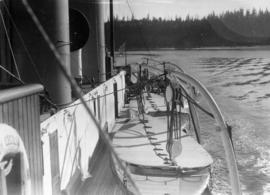 "[View from bridge, aft along upper deck - S.S. ""Lady Cecilia""]"