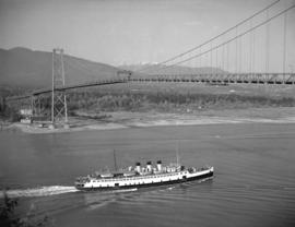 S.S. Princess Elaine under Lions Gate Bridge