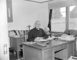 Father Carlyle [at] St. Vincent's Home - 853 East Pender Street