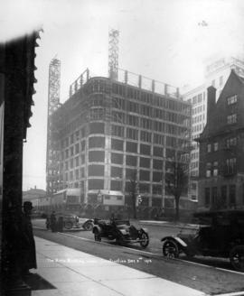 The Birks Building under construction