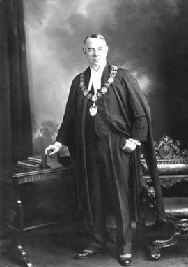 [His Worship G.G. McGeer, K.C., M.P. in his regalia]