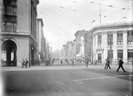 [View of Hastings Street, looking west from Carrall Street]