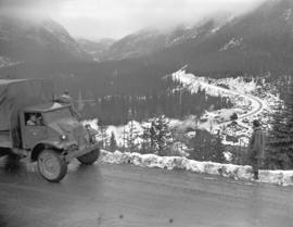 Army convoy through Rockies