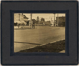 [B.C.E.R. street car lines on Main Street near 19th Avenue]