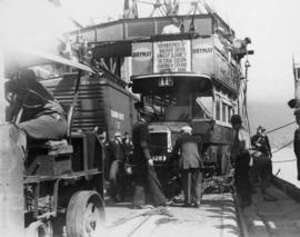 Unloading [London Omnibus] on Ballantyne Pier, Vancouver, May 6th 1936
