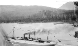 """Empress of India"" passing through the Narrows, Vancouver, B.C."