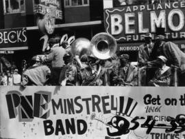 P.N.E. Minstrel Band performing in 1954 P.N.E. Opening Day Parade