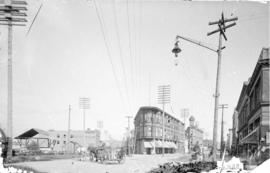 [View down Water Street and Codova Street, looking east from Richards Street]