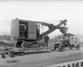 Arrow Transfer [with a D. McKenzie] steam shovel on truck