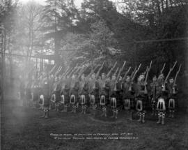 Guard of Honor at Unveiling of Cenotaph April 27th 1924.  1st Battalion Seaforth Highlanders of C...