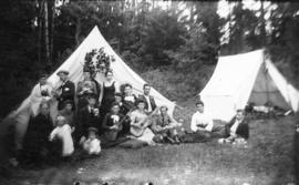 [A group of campers in Lynn Valley]