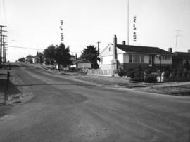 Slocan Street, west side, 3rd to 4th Avenues - view southwest