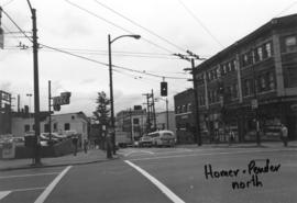 Homer and Pender [Streets looking] north