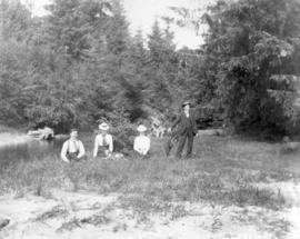 [Sandy and E.A. Dickie with unidentified women in Port Moody]