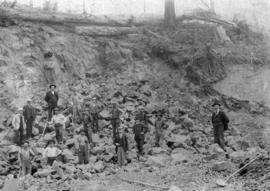 [The Reeve and Councillors inspecting Little Mountain Quarry]