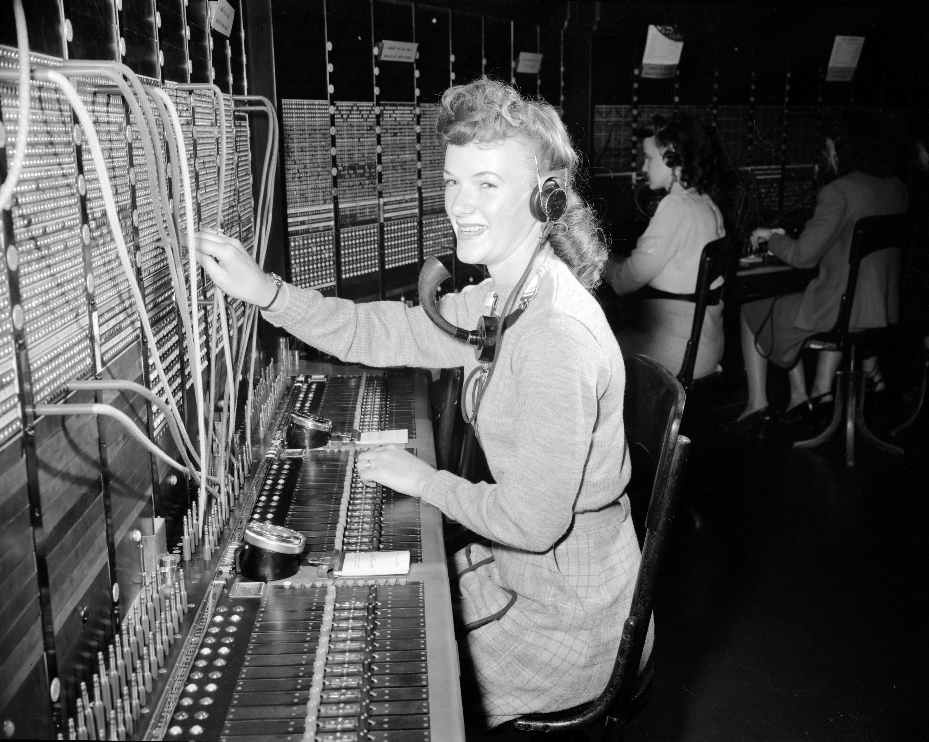 telephone operators city of vancouver archives b c telephone switchboard operators