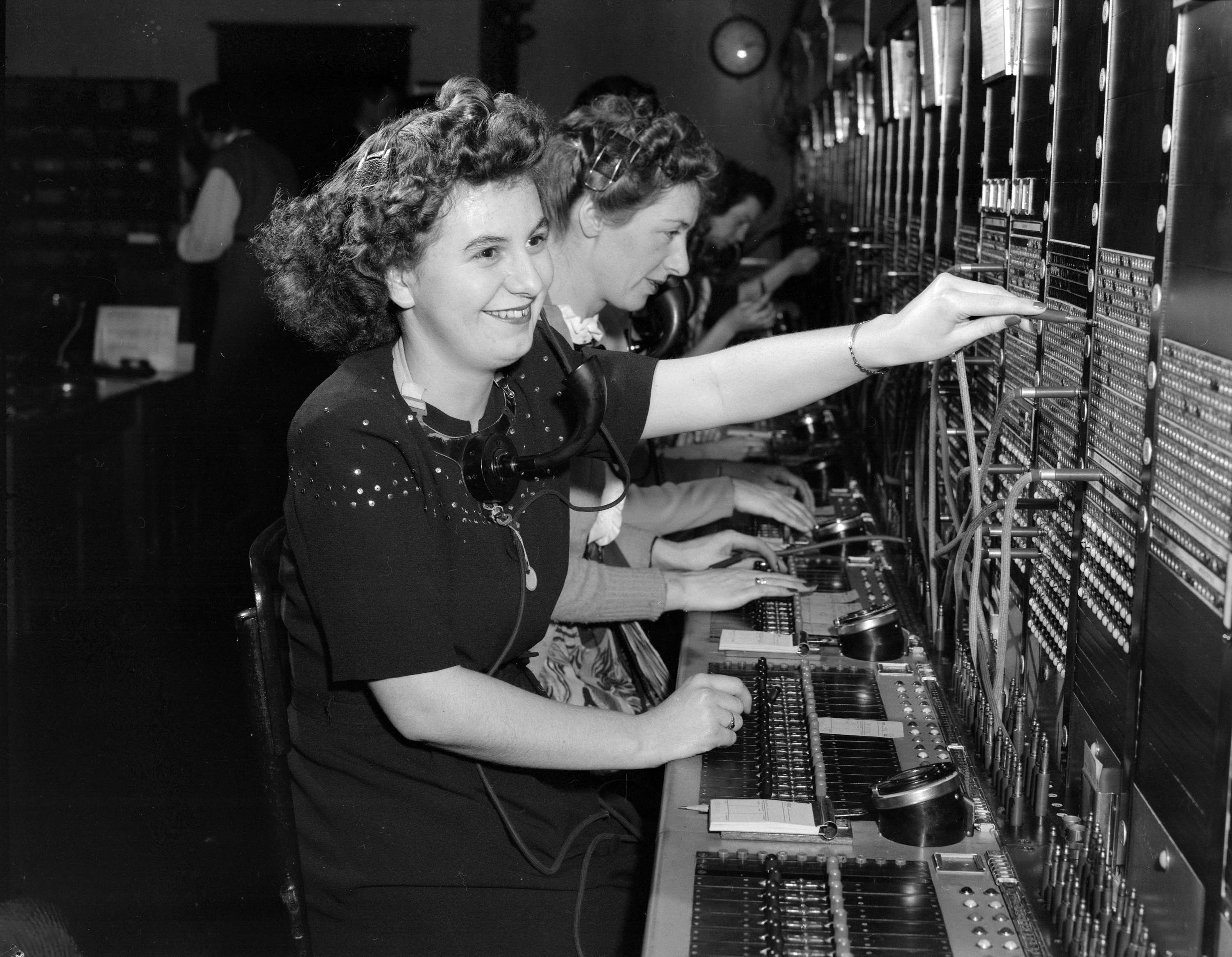 B C Telephone Switchboard Operators City Of Vancouver